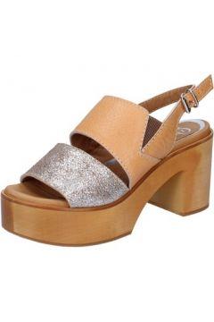 Sandales Qzed By Zamagni sandales marron cuir argent BZ857(88515233)