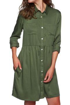 SWELL Tencel Shirt Kleid - Dusty Olive(100260655)