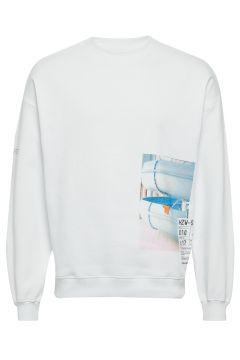 Toyenbadet Box Crew Sweat-shirt Pullover Weiß HOLZWEILER(109152168)