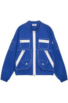 Blouson Andrea Crews Bomber patch pocket Jacket Blue(115483482)