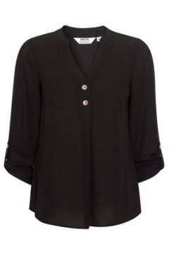 DP Petite Black Roll Sleeve Shirt(111100676)