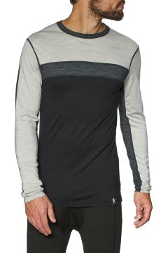 Top Seconde Peau Bula Retro Wool Crew - Black(111320327)