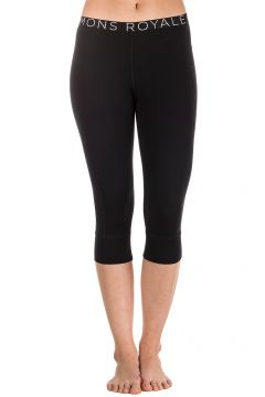 Mons Royale Merino Alagna 3/4 Leggings Tech Pants black/black birdseye(107280357)