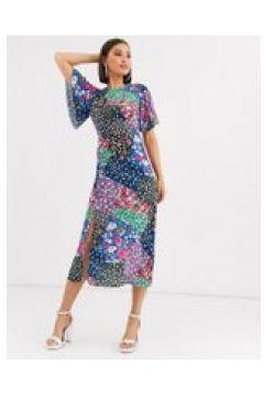 John Zack - Buntes Midaxi-Kleid mit Schalprint - Mehrfarbig(94966622)