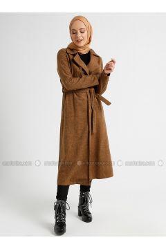 Tan - Unlined - Shawl Collar - Coat - CASHCARA(110339728)