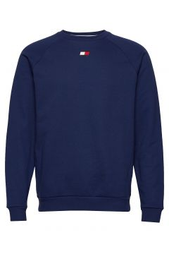 Fleece Crew Logo Sweat-shirt Pullover Blau TOMMY SPORT(114802044)