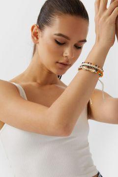 Stradivarius Lot de 4 bracelets perles fantaisie FEMME Écru 103(116783618)