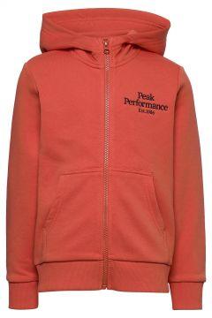 Jr Original Zip Hood Hoodie Pullover Orange PEAK PERFORMANCE(114802001)