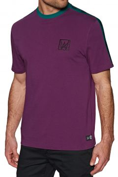 T-Shirt à Manche Courte Welcome Chalice Taped Knit - Purple Teal Black(111329746)