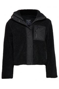 Dad Fleece Coat Sweat-shirt Pullover Schwarz ABERCROMBIE & FITCH(114157087)