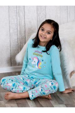 Green - Crew neck - Multi - Kids Pijamas - Lingabooms(110313097)