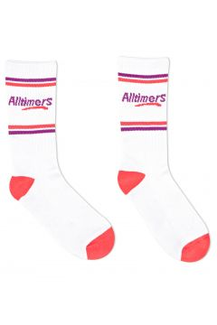 Alltimers Estate Sports Socks - White Red Purple(115307070)