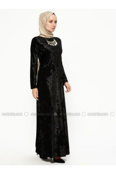 Black - Crew neck - Unlined - Dresses - MEKSİLA(110314188)