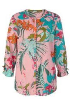 Tunika-Bluse mit Tropical Print aus leichter Baumwolle Codello light rose(111527627)