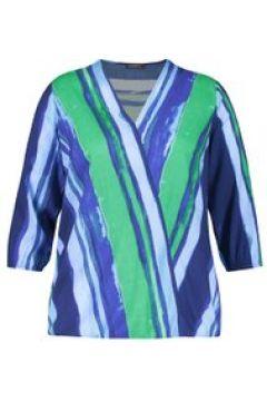 Bluse mit Wickel-Optik Samoon Space Blue gemustert(111507202)