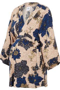 MAMA.LICIOUS Bedruckter Viskose Umstandskimono Damen Blau(107471383)