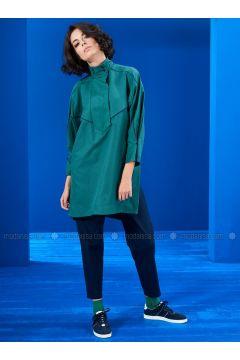 Green - Navy Blue - Tunic - Mevra(110323512)