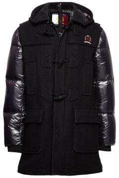 Hcm Down Sleeve Duffle Coat Gefütterte Jacke Schwarz HILFIGER COLLECTION(114153034)