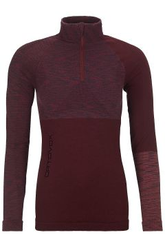 Ortovox Merino Comp Zip Neck Tech Tee LS rood(95393061)