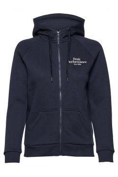 W Original Zip Hood Hoodie Pullover Blau PEAK PERFORMANCE(114802007)