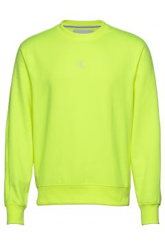 Back Logo Neon Crewneck Sweat-shirt Pullover Gelb CALVIN KLEIN JEANS(115541561)