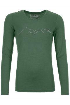 Ortovox 185 Merino Mountain Tech Tee LS groen(95393241)