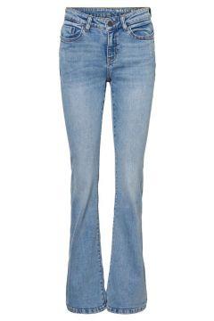 NOISY MAY Normalhöga Skinny Fit-jeans Kvinna Blå(111097969)