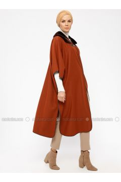 Terra Cotta - Point Collar - Unlined - Poncho - CML Collection(110330400)