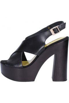 Sandales Suky Brand sandales noir cuir AC481(88464944)