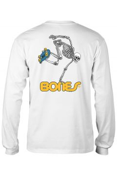 Powell Peralta Skateboard Skeleton Long Sleeve T-Shirt wit(99065095)