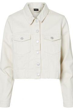 VERO MODA Raccourcie Veste En Jean Women beige(113659305)