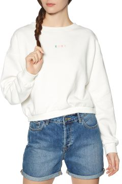 Sweat Femme Roxy Sunset Session - Snow White(113797986)
