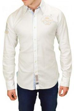 Chemise La Martina Chemise Pastor blanche pour homme(88442646)