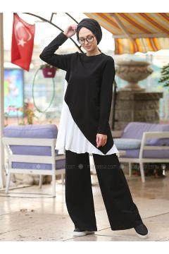 Black - Cotton - Suit - Lysa Studio(110333554)