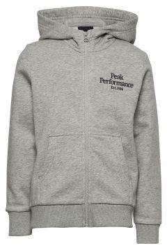 Jr Original Zip Hood Hoodie Pullover Grau PEAK PERFORMANCE(114802003)