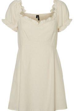 VERO MODA Volants Mini-robe Women White(116511249)
