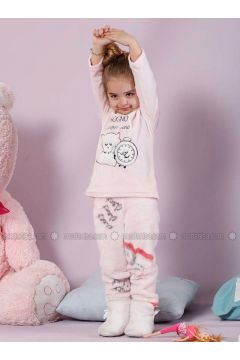 Powder - Crew neck - Multi - Cotton - Kids Pijamas - Siyah inci(110331133)