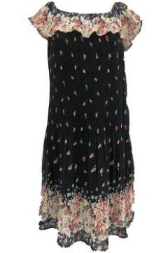 Robe By La Vitrine Robe care of you noir motifs fleuris(115667125)