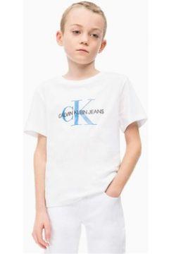 T-shirt enfant Calvin Klein Jeans IB0IB00136 MONOGRAM LOGO REGULAR(101838611)