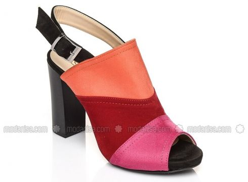 Red - Pink - Purple - Orange - High Heel - Heels - Shoestime(100931120)