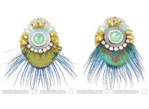Green - Earring - Pelin Aksesuar(100926408)