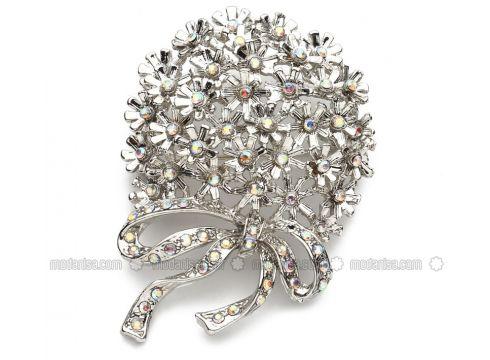Silver tone - Brooch - Modex(100921208)