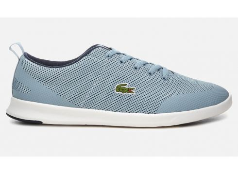 Lacoste Women\'s Avenir 318 2 Textile Low Profile Trainers - Light Blue/Navy - UK 3 - Blau(58975489)