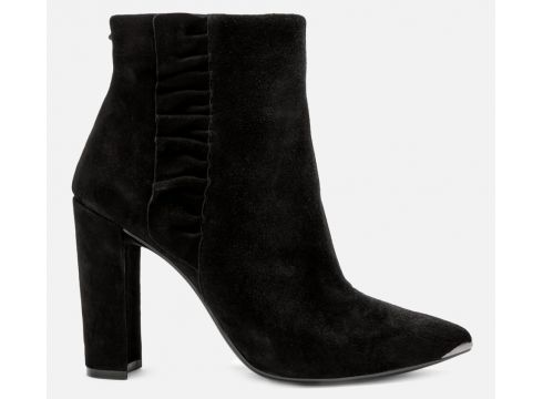 Ted Baker Women\'s Frillis Suede Heeled Ankle Boots - Black - UK 3 - Schwarz(90305386)