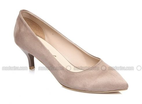 Beige - High Heel - Heels - Shoestime(100930977)