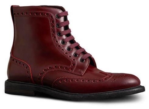 Burberry bottines lacées à détails façon richelieu - Rouge(65485435)