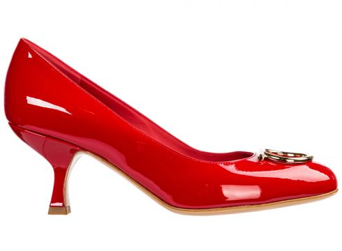 Women's leather pumps court shoes high heel(116935559)