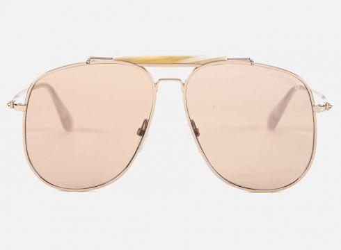 Tom Ford Men\'s Connor Sunglasses - Shiny Rose Gold/Violet(90305858)