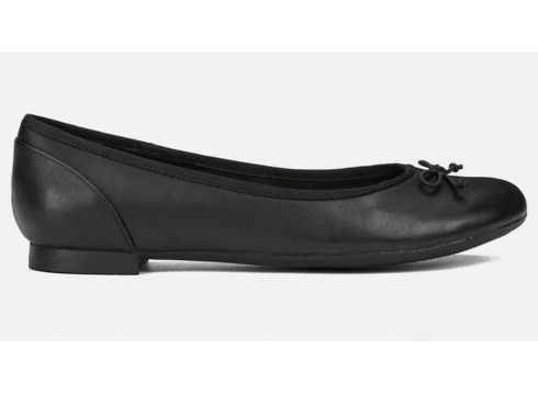 Clarks Women\'s Couture Bloom Leather Ballet Flats - Black - UK 6 - Schwarz(50497375)