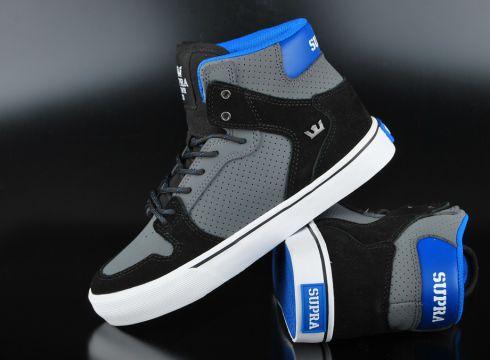 Supra Kids Vaider Charcoal Black White Sneaker(87045558)